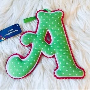 ❗️'A' Hanging Fabric Letter
